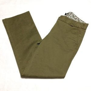 J. Crew Green City Fit Pants